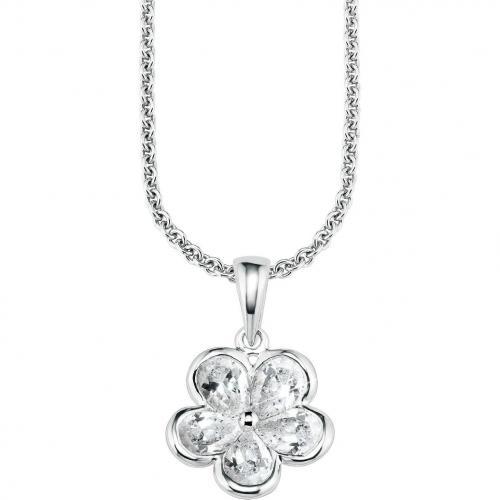 s.Oliver Damen-Halskette Silber Blüte