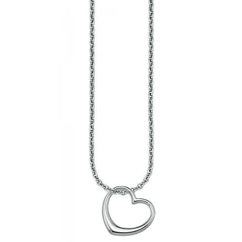 s.Oliver Damen-Halskette Silber Herz