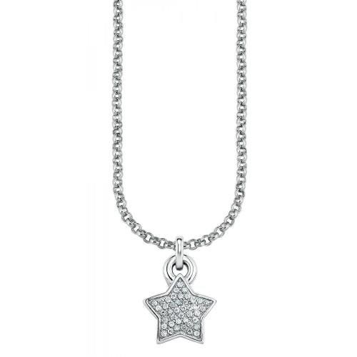 s.Oliver Damen-Halskette Silber Stern