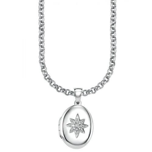 s.Oliver Damen-Halskette Stern im Ring