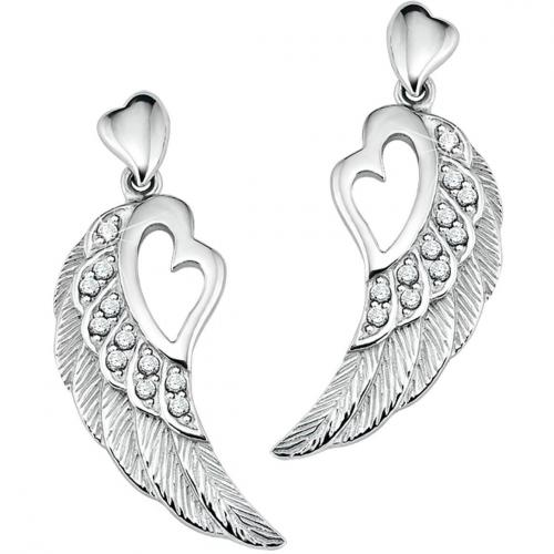 s.Oliver Damen-Ohrringe Flügel-Motiv