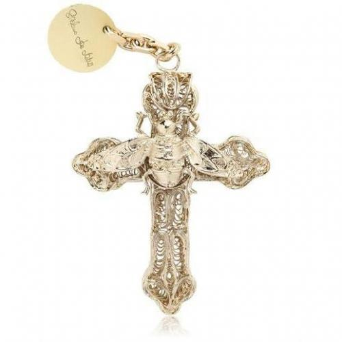 Stefano de Lellis 24 Kt vergoldete Halskette mit Kreuzanhänger