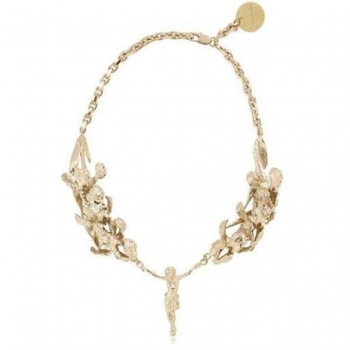 Stefano de Lellis 24 Kt vergoldete Heilige 3D Halskette