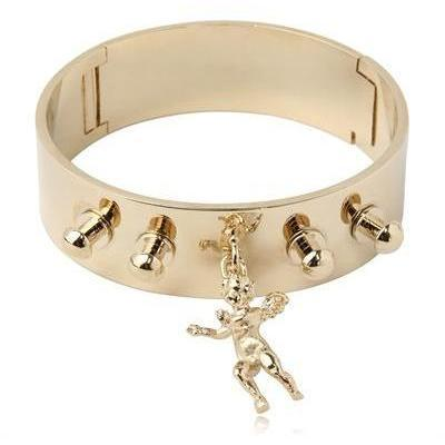 Stefano de Lellis 24 Kt vergoldetes Engelarmband breit