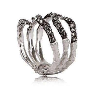 Stephen Webster Weiss und Grün Diamanten Gold Ring