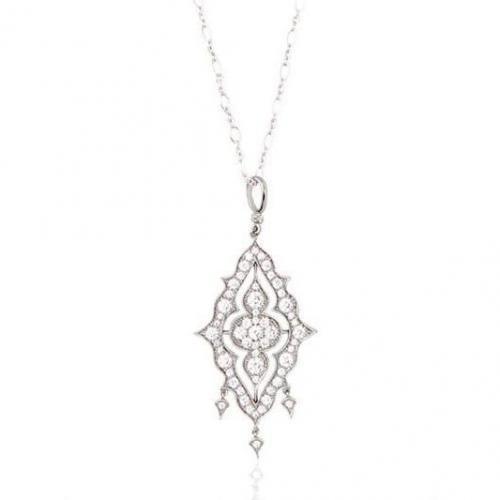 Stone Paris Apsara Halskette aus Gold und Diamanten