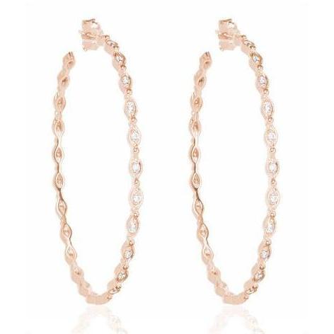 Stone Paris Diamant Reifen Ohrringe