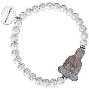 Strawberry & Cream Armband Buddha Silber Grau