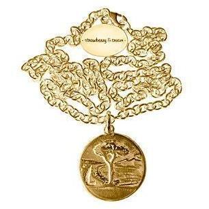 Strawberry & Cream Kette Lebensbaum Gold Anker