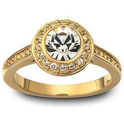 Swarovski Ring Angelic Vergoldet