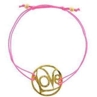 Sylvie Eder Armbändchen Love pink gold