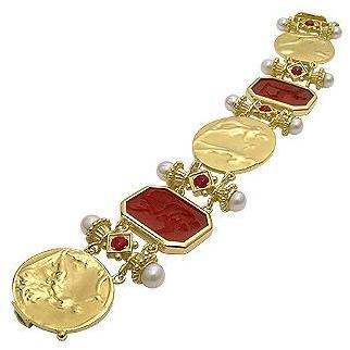 Tagliamonte Classic Collection Armband aus 18k Gold und Rubin Rot
