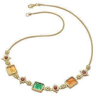 Tagliamonte Classic Collection Halskette aus 18k Gold und Rubin Bunt