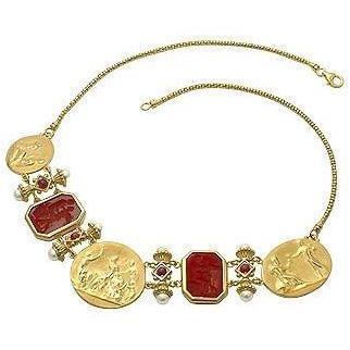 Tagliamonte Classic Collection Halskette aus 18k Gold und Rubin Rot