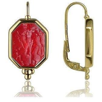 Tagliamonte Classic Collection Rote Ohrhänger aus 18k Gold