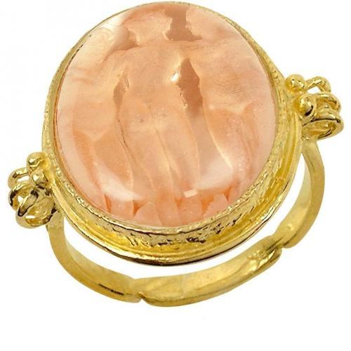 Tagliamonte Drei Grazien 18k Goldring in rose aus Perlmutt