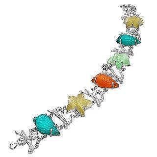 Tagliamonte Marina Collection Mehrfarbiges Armband aus 18k Gold