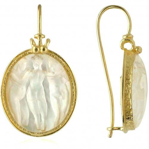 Tagliamonte Three Graces Cameo Ohrringe aus 18k Gold und Perlmut