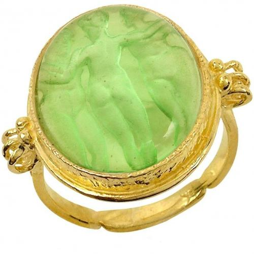Tagliamonte Three Graces Cameo Ring aus 18k Gold und Perlmut