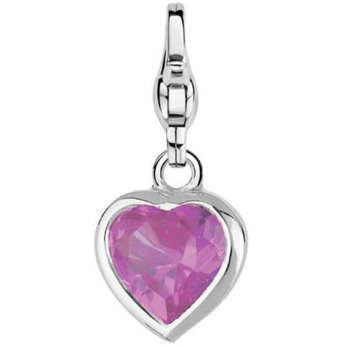Ti Sento Stylish Heart Pink Charm-Anhänger
