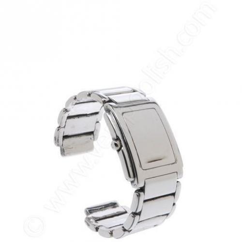 Tom Binns Armband Womens Rectangular Face Watch silver