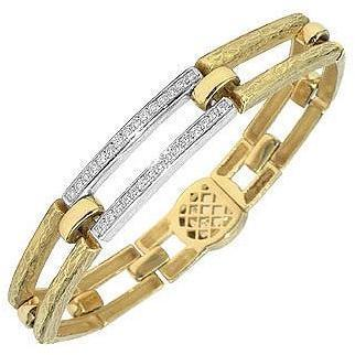 Torrini Beatrice Armband mit rechteckigen Gliedern aus Gold und Diamant