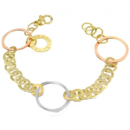 Torrini Fiesole Armband aus 18k Gelb-, Weiß- und Rotgold