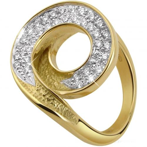 Torrini Infinity 18k Diamantring in gelbgold