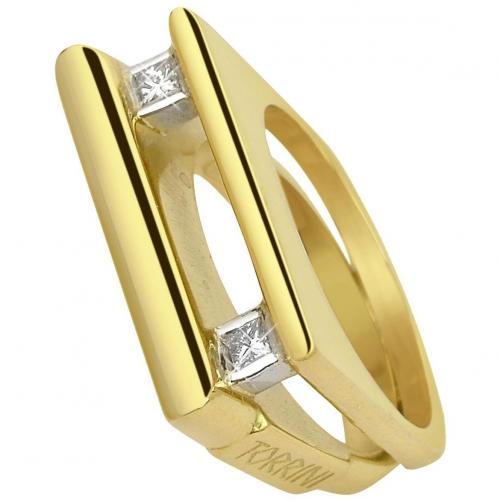 Torrini Kaleidos Ring aus 18k Gold mit Diamanten mit Princess-Schliff