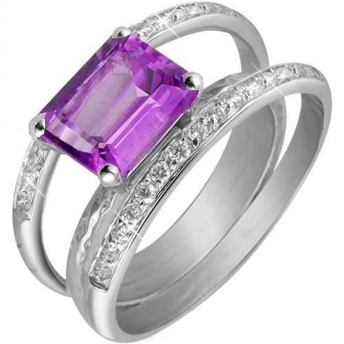 Torrini Kleio Amethyst und Diamantenring aus 18k gold