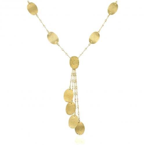 Torrini Lenticchie Moving Halskette aus 18k Gelbgold