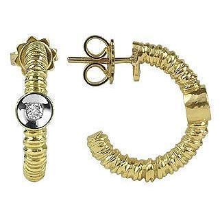 Torrini Rondelle Ohrringe aus 18k Gold und Diamant Gold