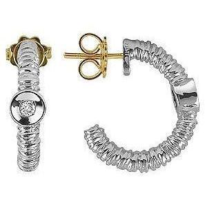 Torrini Rondelle Ohrringe aus 18k Gold und Diamant Silver