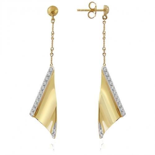 Torrini Vela Ohrringe aus 18k Gelbgold mit Diamanten