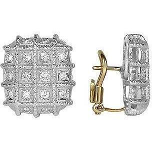 Torrini Wallstreet Ohrringe aus 18k Weißgold und Diamant