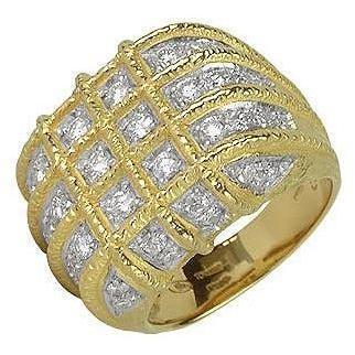 Torrini Wallstreet Ring aus 18k Gelbgold und Diamant