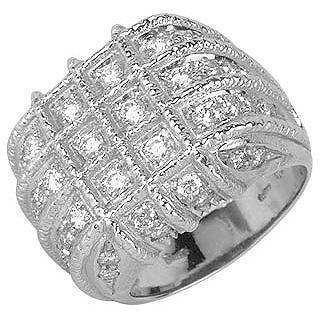Torrini Wallstreet Ring aus 18k Weißgold und Diamant