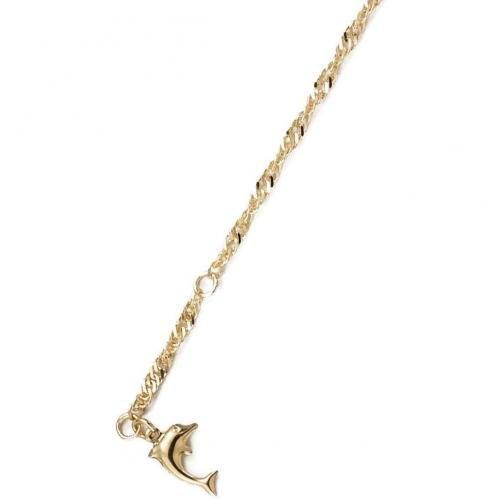 trendor Gold Fußkette Delfin