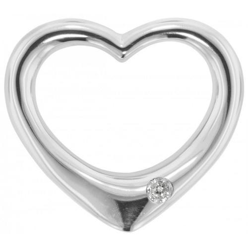 trendor Silber Durchzieh-Herz groß