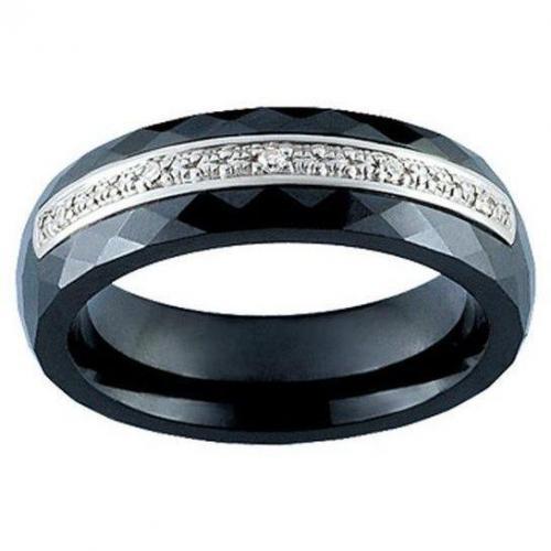 Ultimate Ceramic Damenring Diamanten schwarz