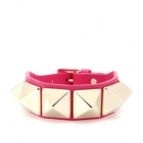 Valentino Lederarmband Rockstud Pink