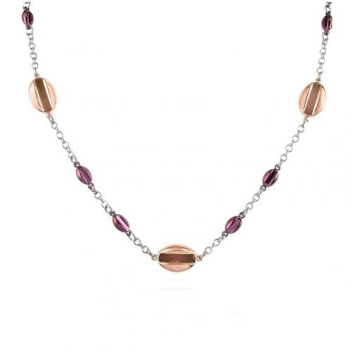 Zoppini Coffee Collection Halskette aus Edelstahl mit Anhängern in braun & gold