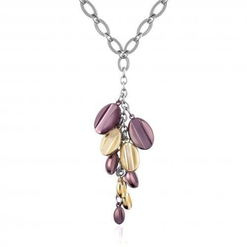 Zoppini Coffee Collection Halskette mit Tropfenanhängern in braun & gold