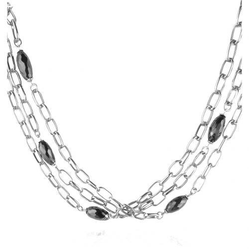 Zoppini Couture Collection Halskette mit schwarzen Edelsteinen