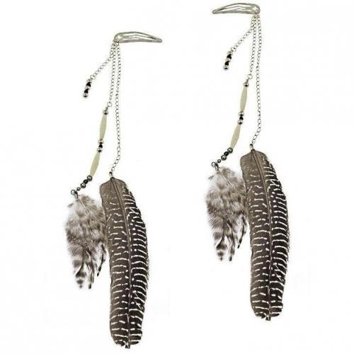 Big Feather Haaraccessoire schwarz/silber von Capelli New York