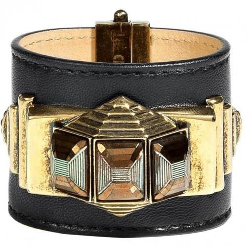 Black Leather Cuff  von Emilio Pucci