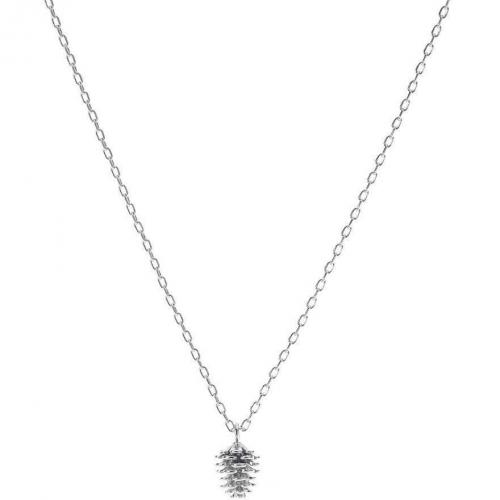 Pine Cone Short Pendant Halskette rhodium  von French Connection