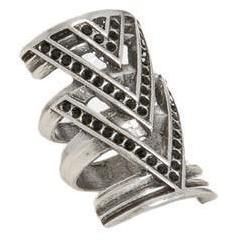 Doppelring Arrow silver von House of Harlow
