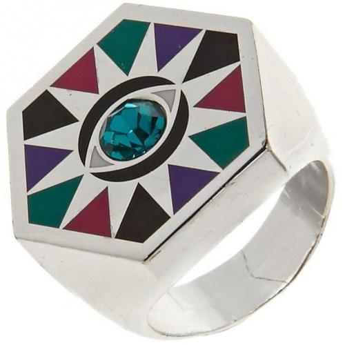 I See You Ring silver/green  von Me & Zena