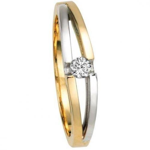 Diamant-Ring Bicolor Gold 375 von Moncara